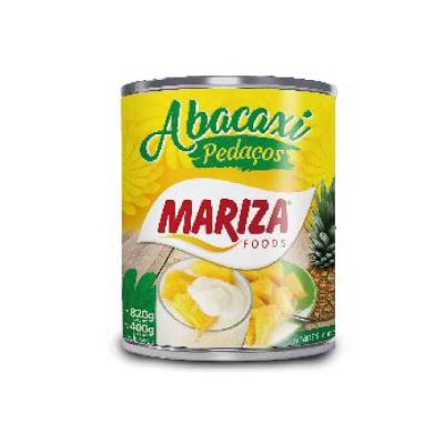 Abacaxi Pedaços em Calda 400g Mariza lata UN