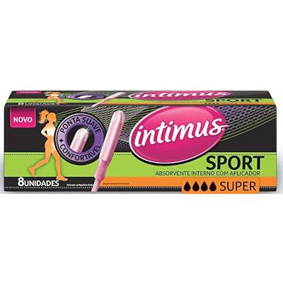 Absorvente interno super com aplicador 8 unidades Intimus Sport pacote PCT