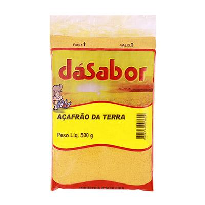 Açafrão em pó 500g DáSabor pacote PCT