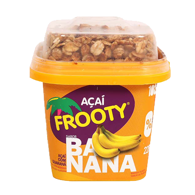 Açaí com banana e granola 200g Frooty pote POTE