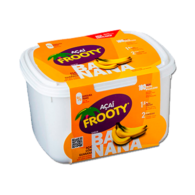 Açaí com banana 2kg Frooty pote POTE