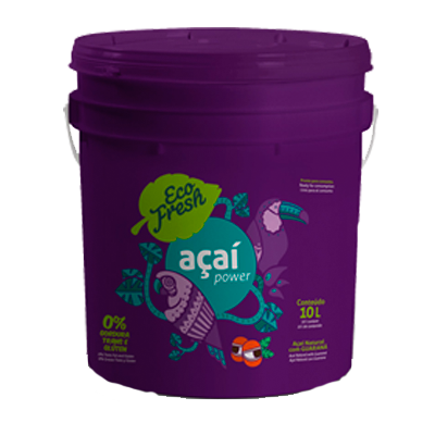 Açaí natural 10kg Eco Fresh balde BD