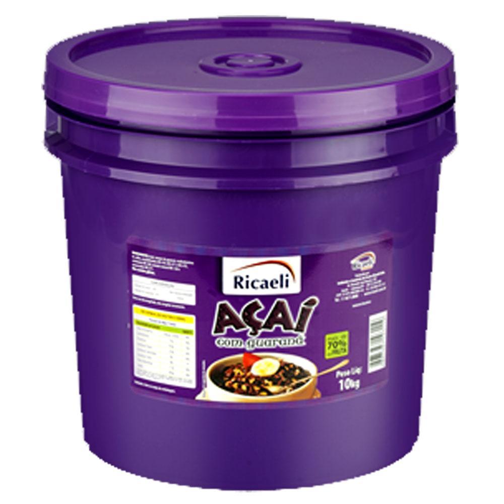Açaí natural 10kg Ricaeli balde BD