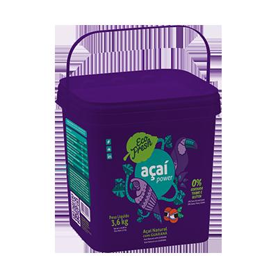Açaí natural 3,6kg Eco Fresh balde BD