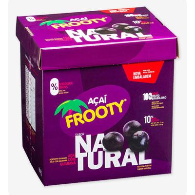 Açaí natural 10kg Frooty caixa CX