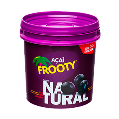 Açaí natural 1kg Frooty pote POTE