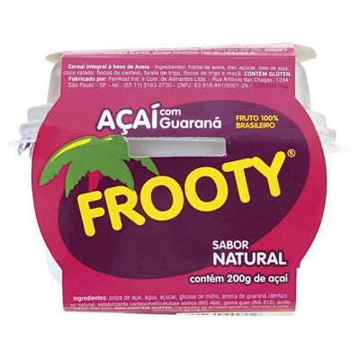 Açaí natural 200g Frooty pote POTE