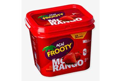 Açaí sabor morango 5kg Frooty caixa CX