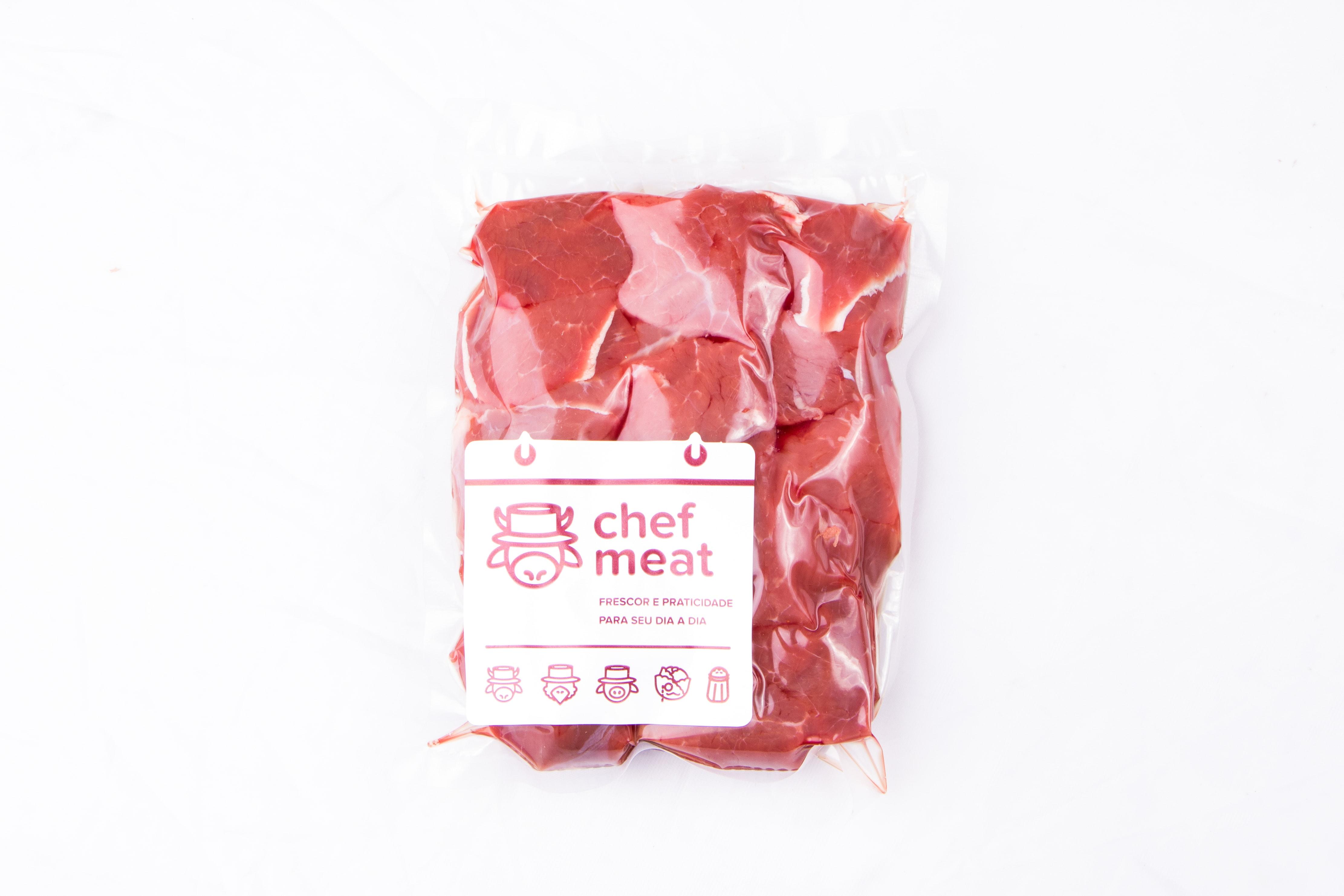 Acém resfriado em cubos por Kg Chef Meat  KG