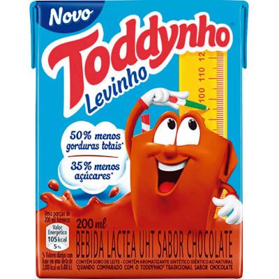 Achocolatado 35% menos Açúcares 200ml Toddynho/Levinho tetra pak UN