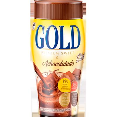 Achocolatado em pó diet 210g Gold pote UN