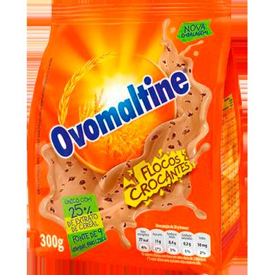 Achocolatado em Pó flocos crocantes 300g Ovomaltine pacote UN
