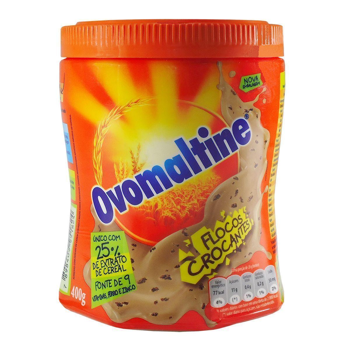 Achocolatado em Pó flocos crocantes 400g Ovomaltine pote POTE