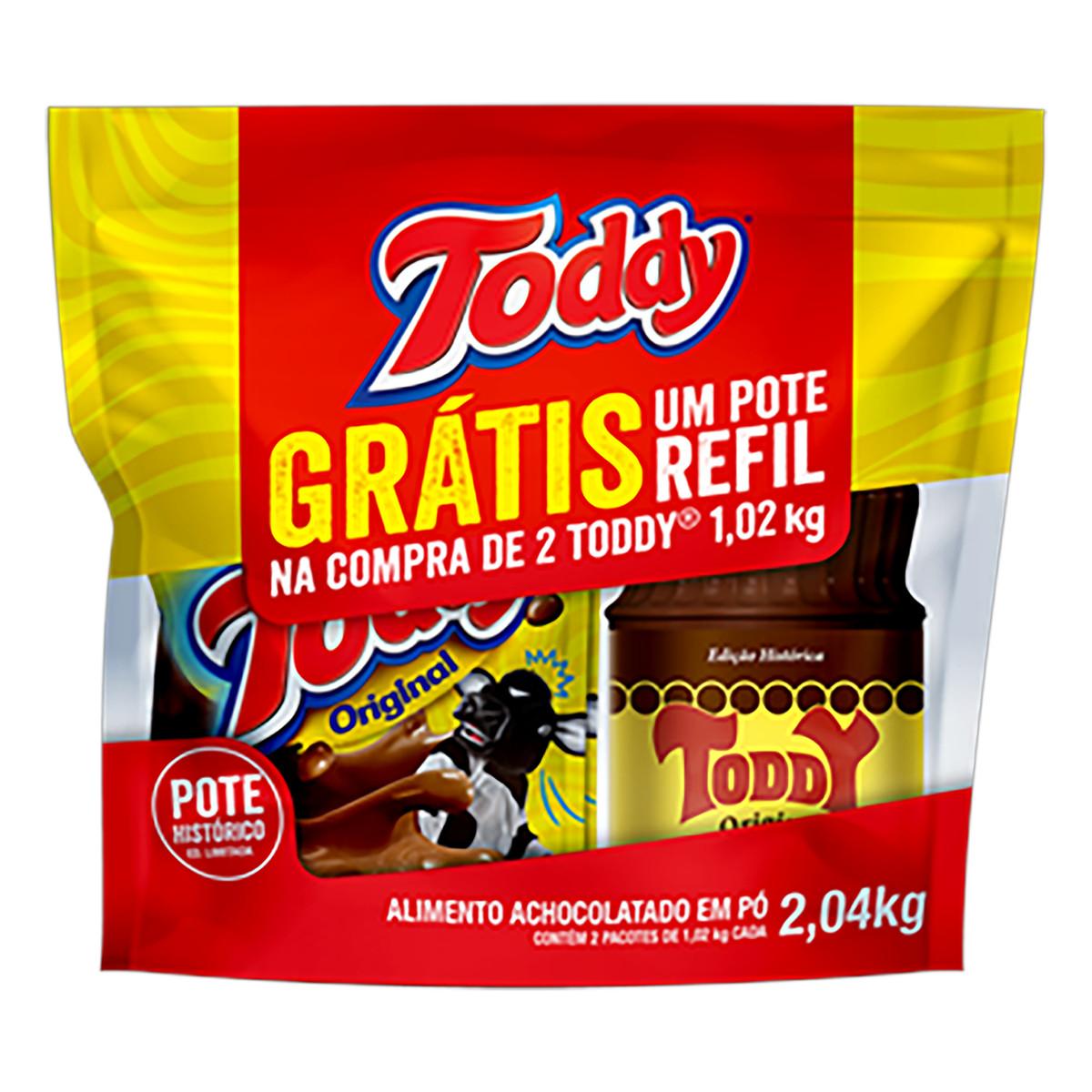 Achocolatado Kit (2 pacotes de 1020g e um pote) Toddy sachê UN