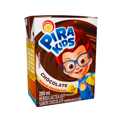Achocolatado  200ml Piracanjuba Pirakids Tetra Pak UN