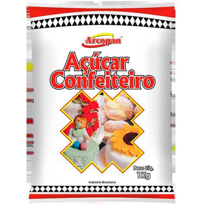 Açúcar confeiteiro 1kg Arcolor pacote PCT