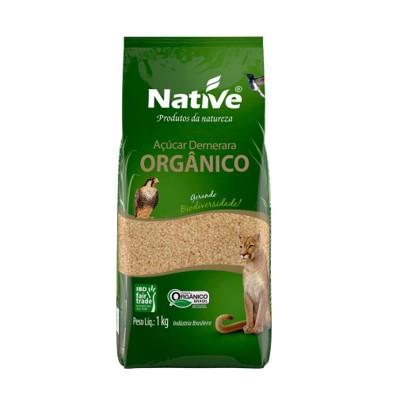 Açúcar Orgânico Demerara 1kg Native pacote PCT