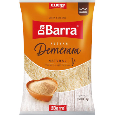 Açúcar Demerara 1kg Da Barra pacote PCT