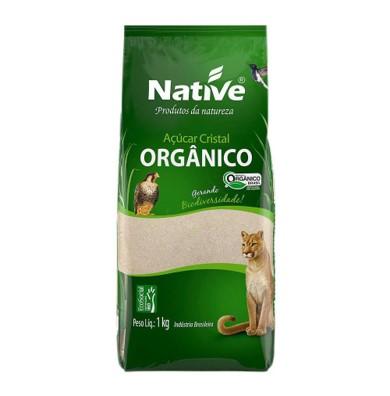 Açúcar cristal orgânico 1kg Native pacote PCT