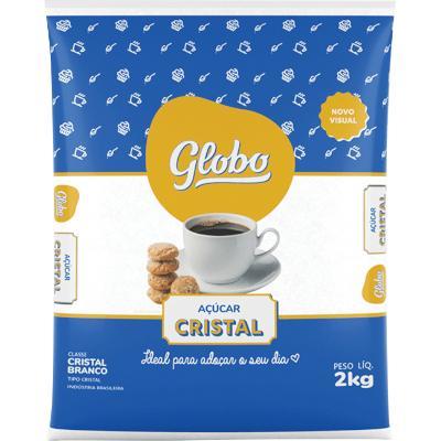 Açúcar cristal 2kg Globo pacote PCT