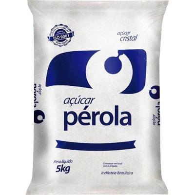 Açúcar Cristal 5kg Perola pacote PCT