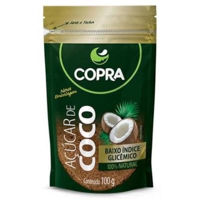 Açúcar de coco 100g Copra pacote UN