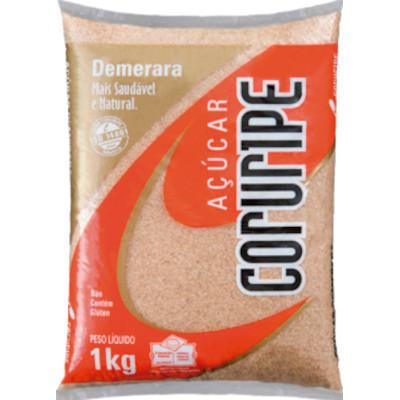 Açúcar Demerara 1kg Coruripe pacote PCT