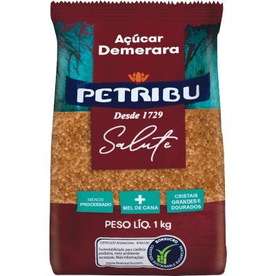 Açúcar Demerara 1kg Petribu/Salute pacote PCT