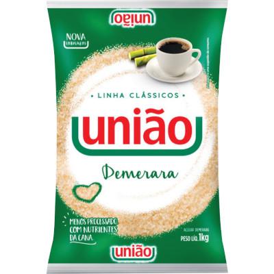 Açúcar Demerara 1kg União pacote PCT