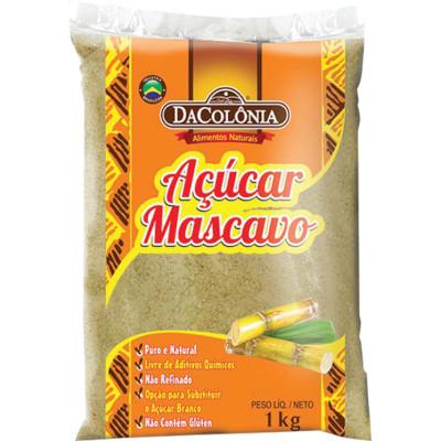 Açúcar mascavo 1Kg DaColônia pacote PCT