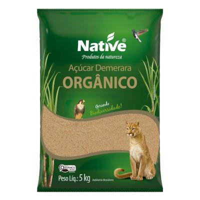 Açúcar  orgânico demerara 5kg Native pacote PCT