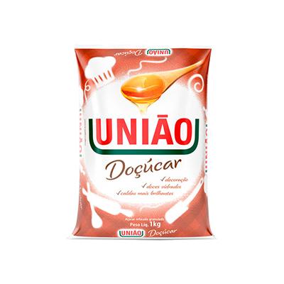Açúcar refinado granulado 1kg União/Doçucar pacote PCT