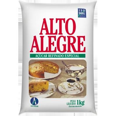 Açúcar Refinado 1kg Alto Alegre pacote PCT