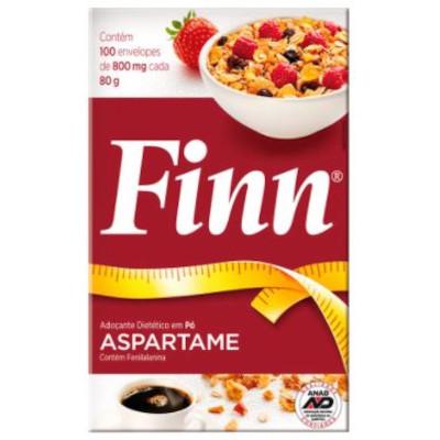 Adoçante em Pó Aspartame (100 unidades) Finn caixa CX