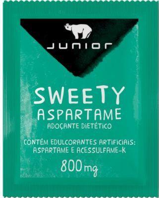 Adoçante em Pó Aspartame 1000 unidades de 0,8g Sweety Junior caixa CX