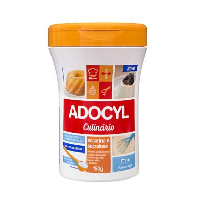 Adoçante em Pó Culinário Sacarina e Sucralose 150g Adocyl pote POTE