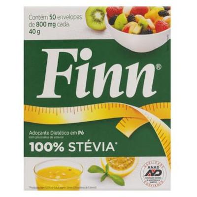 Adoçante em Pó Stévia 50 unidades de 0,8g Finn caixa CX