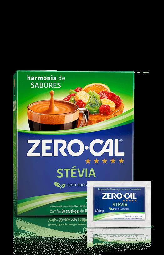 Adoçante em Pó Stévia (50 unidades) Zero Cal caixa CX