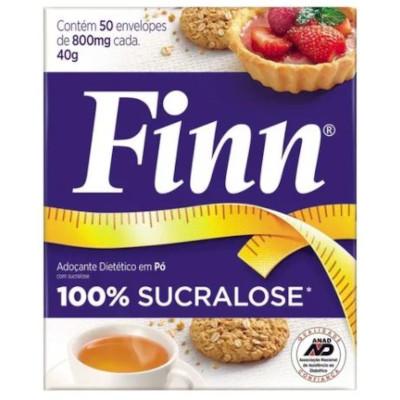 Adoçante em Pó Sucralose 50 unidades de 0,8g Finn caixa CX
