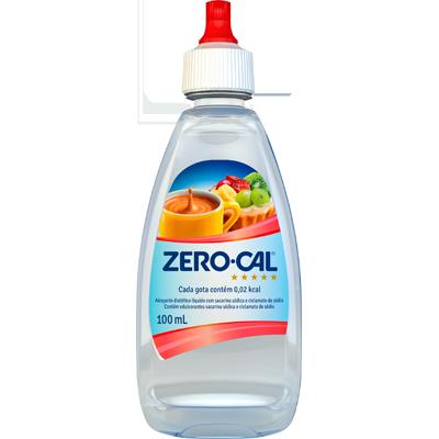 Adoçante Líquido Sacarina 100ml Zero Cal frasco UN