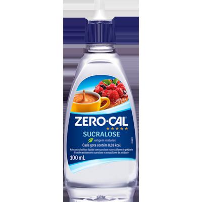 Adoçante Líquido Sucralose 100ml Zero Cal frasco UN