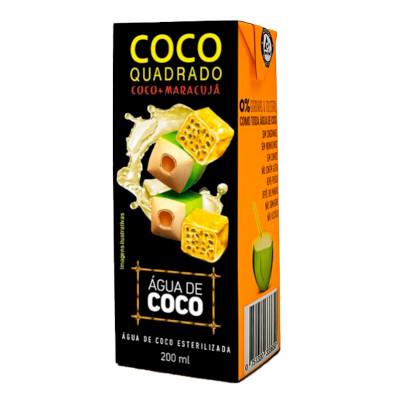 Água de coco com maracujá 200ml Coco Quadrado Tetra Pak UN