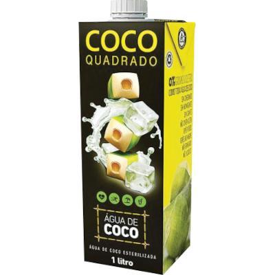 Água de Coco  1Litro Coco Quadrado tetra pak UN