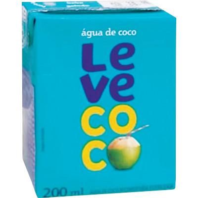 Água de coco  200ml Leve Coco Tetra Pak UN