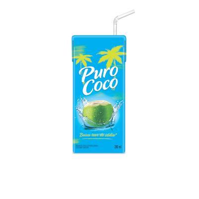 Água de coco  200ml Puro Coco Tetra Pak UN
