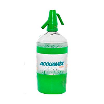 Água gaseificada 1,5Litros Acquamix com sifão não retornável UN