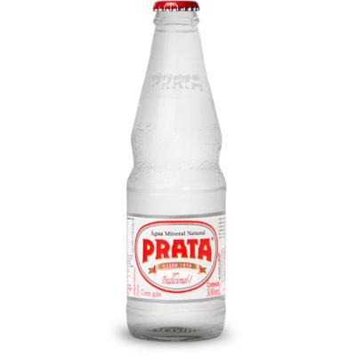 Água mineral natural com gás 300ml Prata garrafa UN