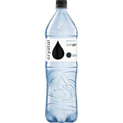 Água mineral natural com gás 1,5Litros Crystal pet UN