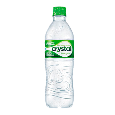 Água mineral natural com gás 500/510ml Crystal pet UN