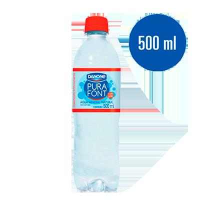 Água mineral natural com gás 500/510ml Danone pet UN